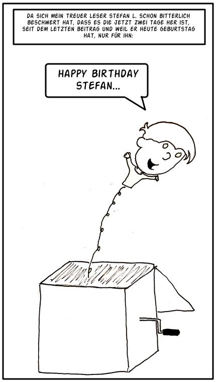 Alles Gute zum Geburtstag, Stefan