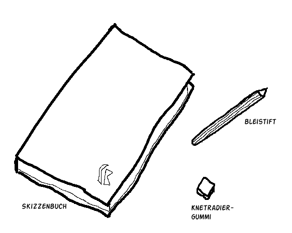 Comictagebuch Zeichenutensilien